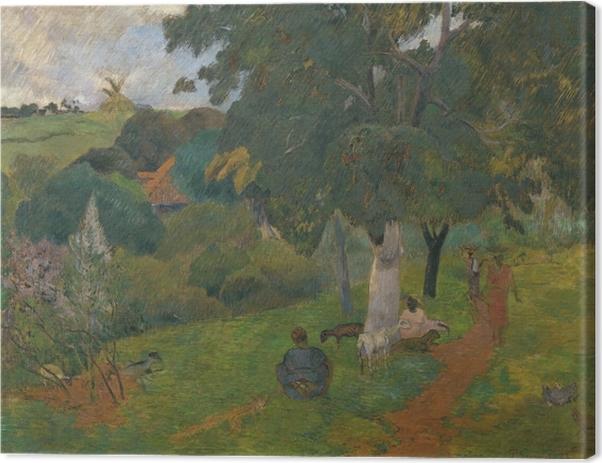 Leinwandbild Paul Gauguin - Landschaft auf Martinique - Kommen und Gehen - Reproduktion