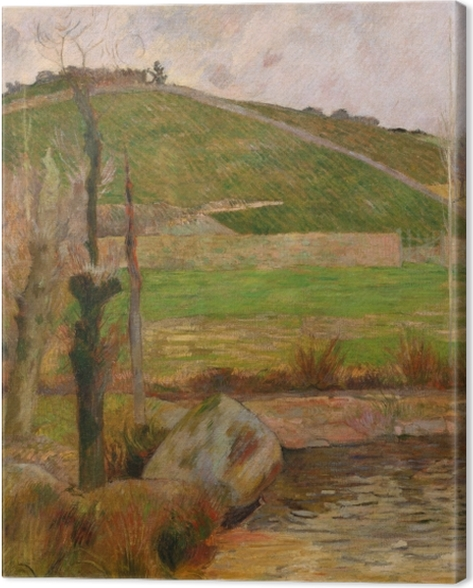 Leinwandbild Paul Gauguin - Landschaft in der Nähe von Pont-Aven - Reproduktion