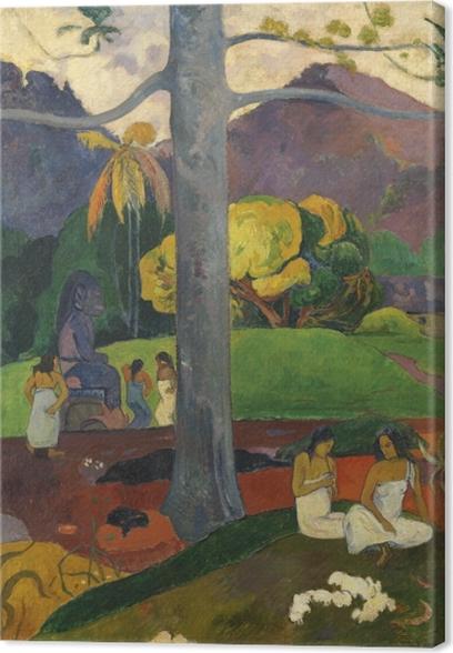 Leinwandbild Paul Gauguin - Mata mua (in alten Zeiten) - Reproduktion