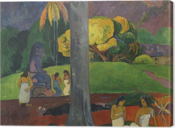 Leinwandbild Paul Gauguin - Mata mua (in alten Zeiten) - Reproduktion