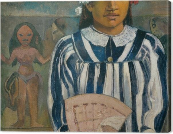 Leinwandbild Paul Gauguin - Merahi metua no Tehamana (Tehamana hat viele Vorfahren) - Reproduktion