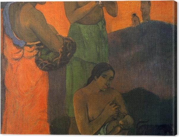 Leinwandbild Paul Gauguin - Mutterschaft - Reproduktion