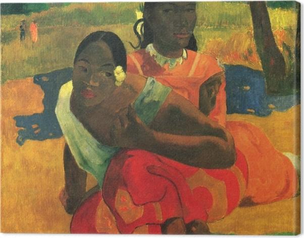 Leinwandbild Paul Gauguin - Nafea faa ipoipo (Wann heiratest du?) - Reproduktion