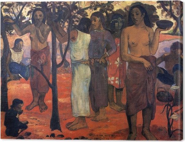 Leinwandbild Paul Gauguin - Nave Nave Mahana (Herrlicher Tag) - Reproduktion