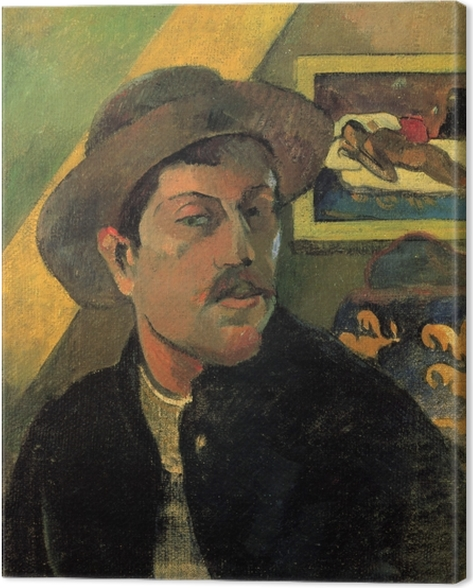 Leinwandbild Paul Gauguin - Porträt des Künstlers - Reproduktion