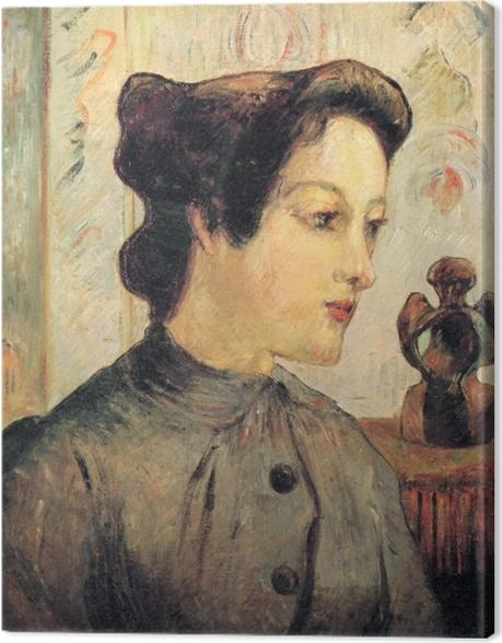 Leinwandbild Paul Gauguin - Porträt einer jungen Frau - Reproduktion