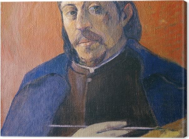 Leinwandbild Paul Gauguin - Selbstbildnis mit Palette und Pinsel - Reproduktion