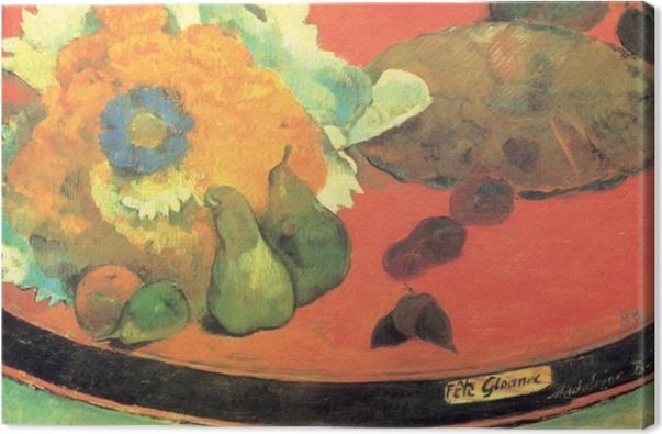 Leinwandbild Paul Gauguin - Stillleben Fête Gloanec - Reproduktion
