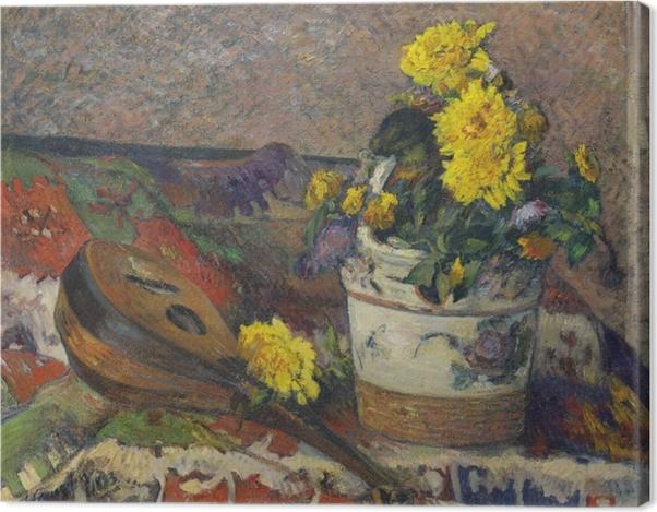 Leinwandbild Paul Gauguin - Stillleben mit Mandoline - Reproduktion