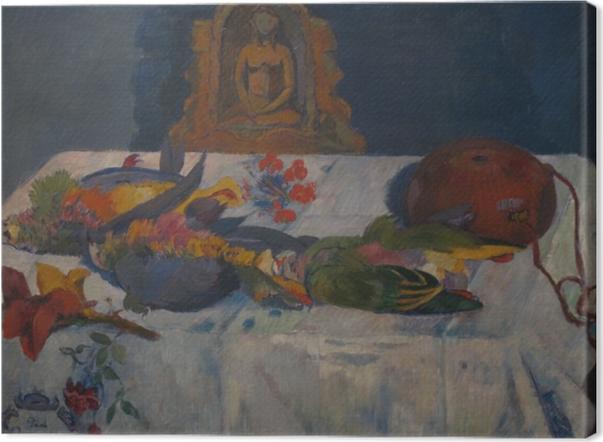 Leinwandbild Paul Gauguin - Stillleben mit Papageien - Reproduktion