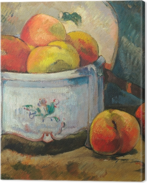 Leinwandbild Paul Gauguin - Stillleben mit Pfirsichen - Reproduktion
