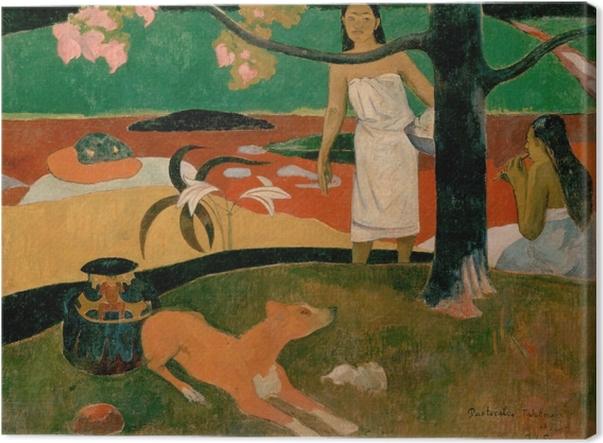Leinwandbild Paul Gauguin - Tahitische Hirtenlieder - Reproduktion