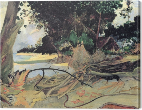 Leinwandbild Paul Gauguin - Te Burao (Der Hibiskusbaum) - Reproduktion