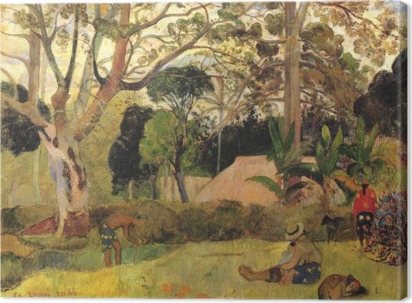 Leinwandbild Paul Gauguin - Te Raau Rahi (Der große Baum) - Reproduktion
