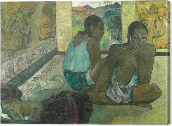 Leinwandbild Paul Gauguin - Te rerioa (Der Traum) - Reproduktion