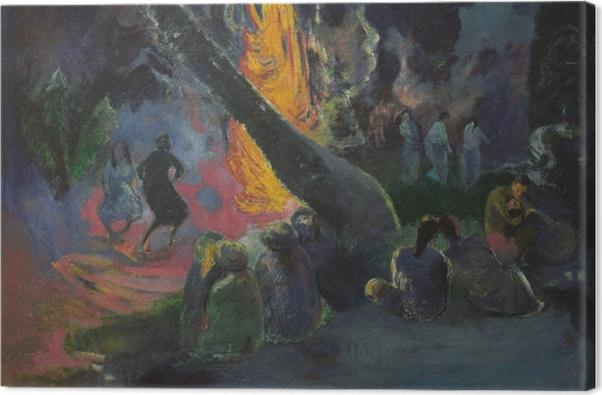 Leinwandbild Paul Gauguin - Upa Upa (Der Feuertanz) - Reproduktion