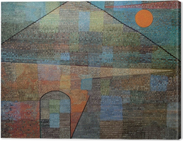 Leinwandbild Paul Klee - Ad Parnassum - Reproduktion