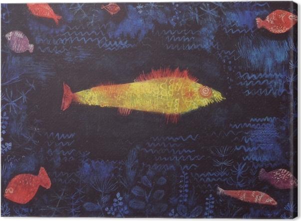 Leinwandbild Paul Klee - Der Goldfisch - Reproduktion