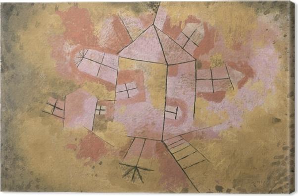 Leinwandbild Paul Klee - Drehbares Haus - Reproduktion