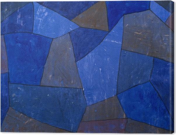 Leinwandbild Paul Klee - Felsen in der Nacht - Reproduktion