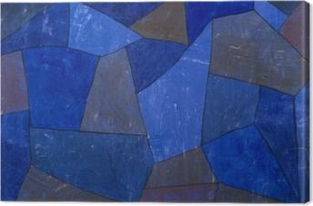 Leinwandbild Paul Klee - Felsen in der Nacht