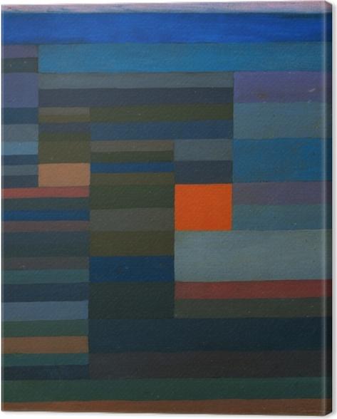 Leinwandbild Paul Klee - Feuer am Abend - Reproduktion