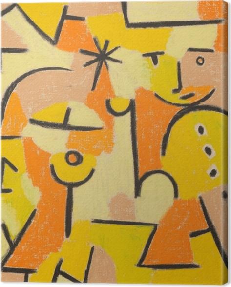 Leinwandbild Paul Klee - Figur in Gelb - Reproduktion