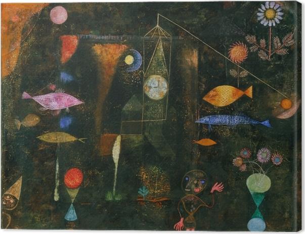 Leinwandbild Paul Klee - Fischzauber - Reproduktion