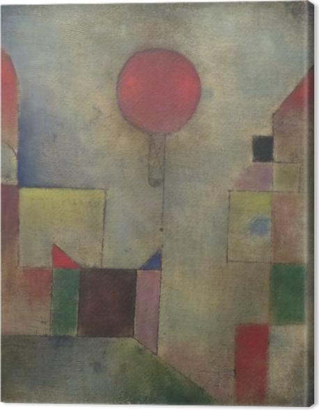 Leinwandbild Paul Klee - Roter Ballon - Reproduktion
