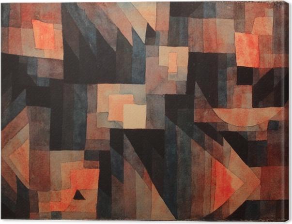 Leinwandbild Paul Klee - Stufung, rot/grün - Reproduktion