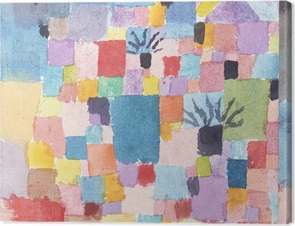 Leinwandbild Paul Klee - Südliche (Tunesische) Gärten - Reproduktion