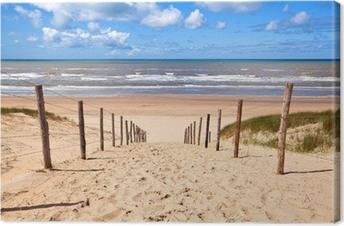 Leinwandbild Pfad zum Sandstrand Nordsee