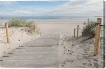 Leinwandbild Pfad zum Strand