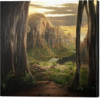 Leinwandbild Phantasy Landscape