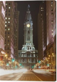 Leinwandbild Philadelphia Straßen bei Nacht
