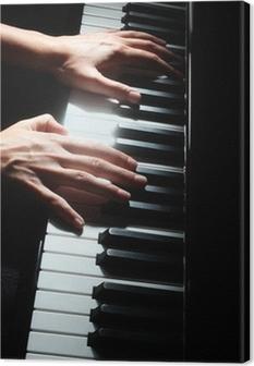 Leinwandbild Piano-Tasten-Tastatur Pianist Hände