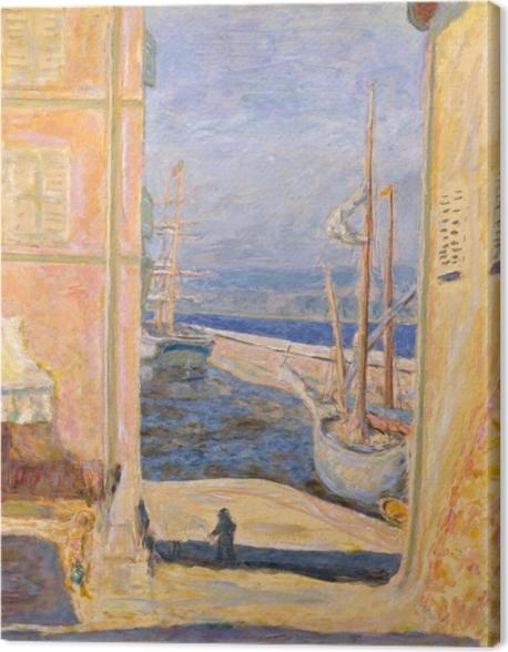 Leinwandbild Pierre Bonnard - Blick auf den Alten Hafen, Saint-Tropez - Reproductions