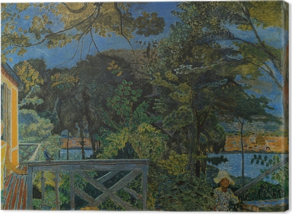 Leinwandbild Pierre Bonnard - Die Terrasse in Vernon - Reproductions