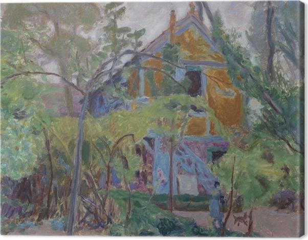 Leinwandbild Pierre Bonnard - Haus unter den Bäumen - Reproductions