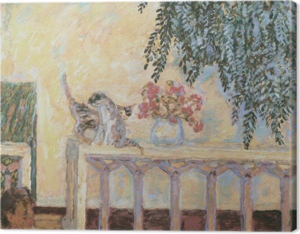 Leinwandbild Pierre Bonnard - Katzen auf dem Geländer - Reproductions