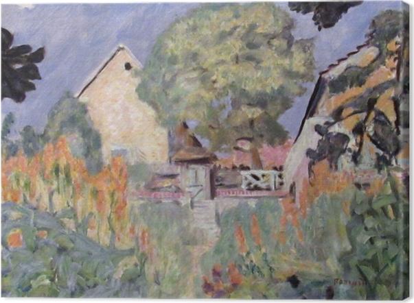 Leinwandbild Pierre Bonnard - Mein Haus in Vernon - der Garten - Reproductions