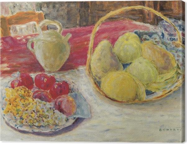 Leinwandbild Pierre Bonnard - Stillleben mit Früchten in der Sonne - Reproductions