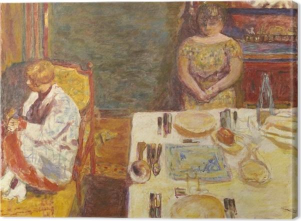 Leinwandbild Pierre Bonnard - Vor dem Mittagessen - Reproductions