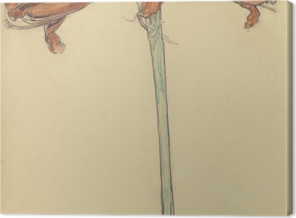 Leinwandbild Piet Mondrian - Amaryllis - Reproduktion