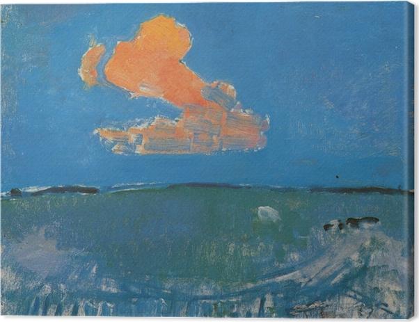 Leinwandbild Piet Mondrian - Die rote Wolke - Reproduktion