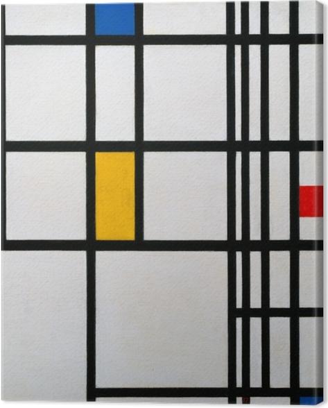 Leinwandbild Piet Mondrian - Komposition in Rot, Blau und Gelb - Reproduktion
