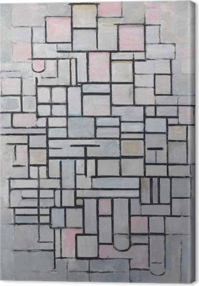 Leinwandbild Piet Mondrian - Komposition IV - Reproduktion