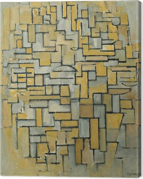 Leinwandbild Piet Mondrian - Komposition - Reproduktion