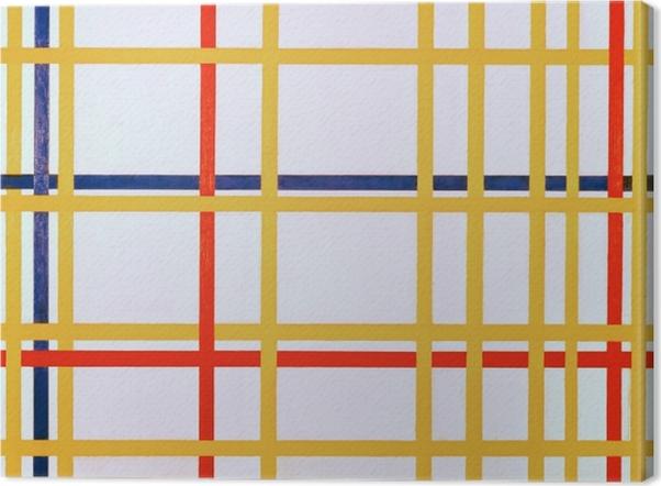 Leinwandbild Piet Mondrian - New York City I - Reproduktion