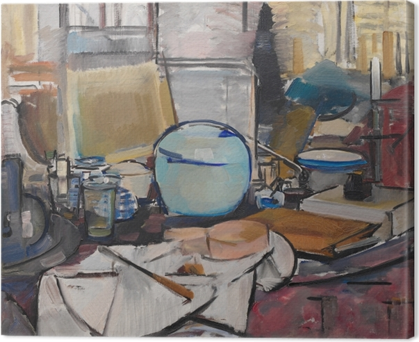 Leinwandbild Piet Mondrian - Stillleben mit Ingwertopf I - Reproduktion